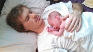 Stephen and baby Percy Gashler